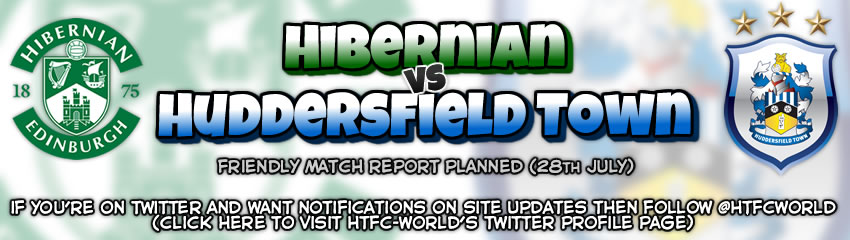 Huddersfield Town vs Hibernian friendly
